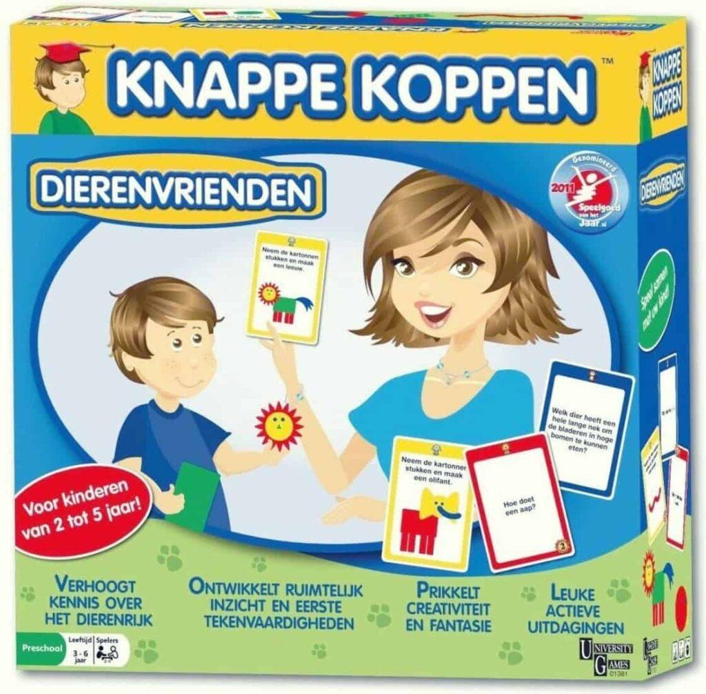 Knappe koppen - een kinderspel dat de vaardigheden van kinderen van 2 tot 5 jaar helpt ontwikkelen