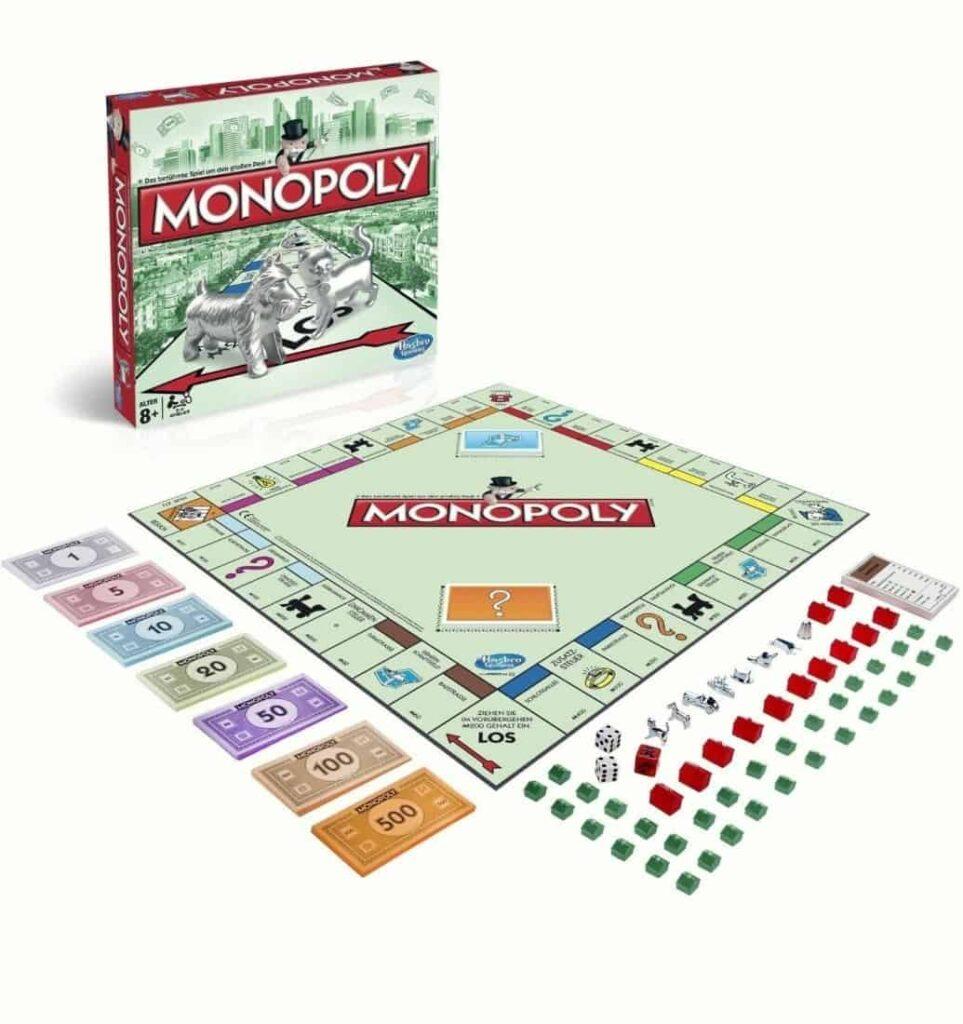 Monopoly is een klassiek gezelschapsspel voor alle leeftijden waarin spelers proberen een monopolie op te bouwen