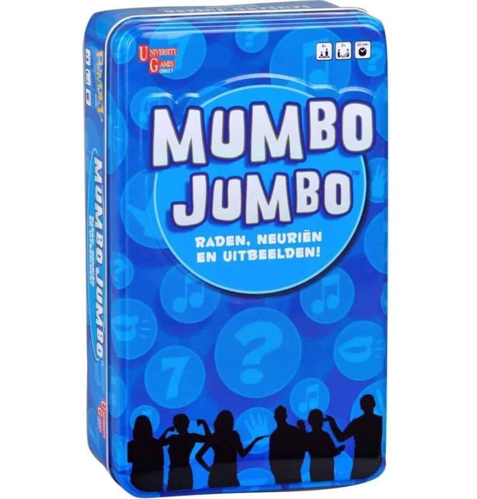 Mumbo Yumbo is een compact spel waarin je de juiste antwoorden moet raden